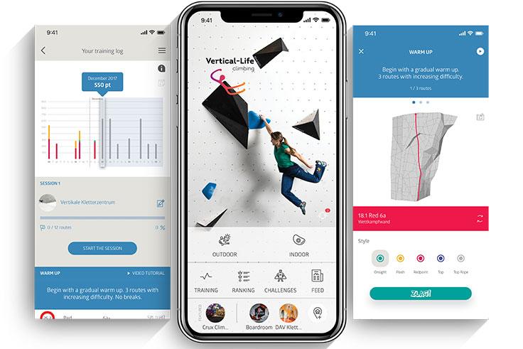 Vertical life digital training log for climbers