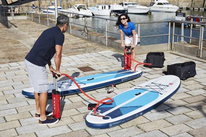 """Red Paddle Co 9'6"""" Compact SUPs with pumps"""