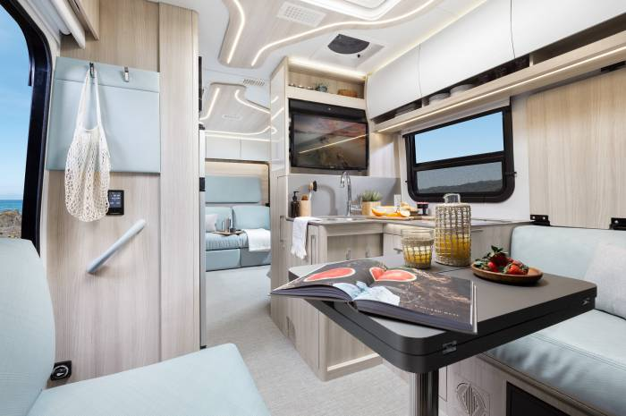 Leisure Travel 2020 Unity Rear Lounge interior