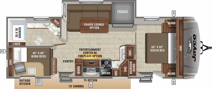 Jayco Eagle HT 264 BHOK floorplan
