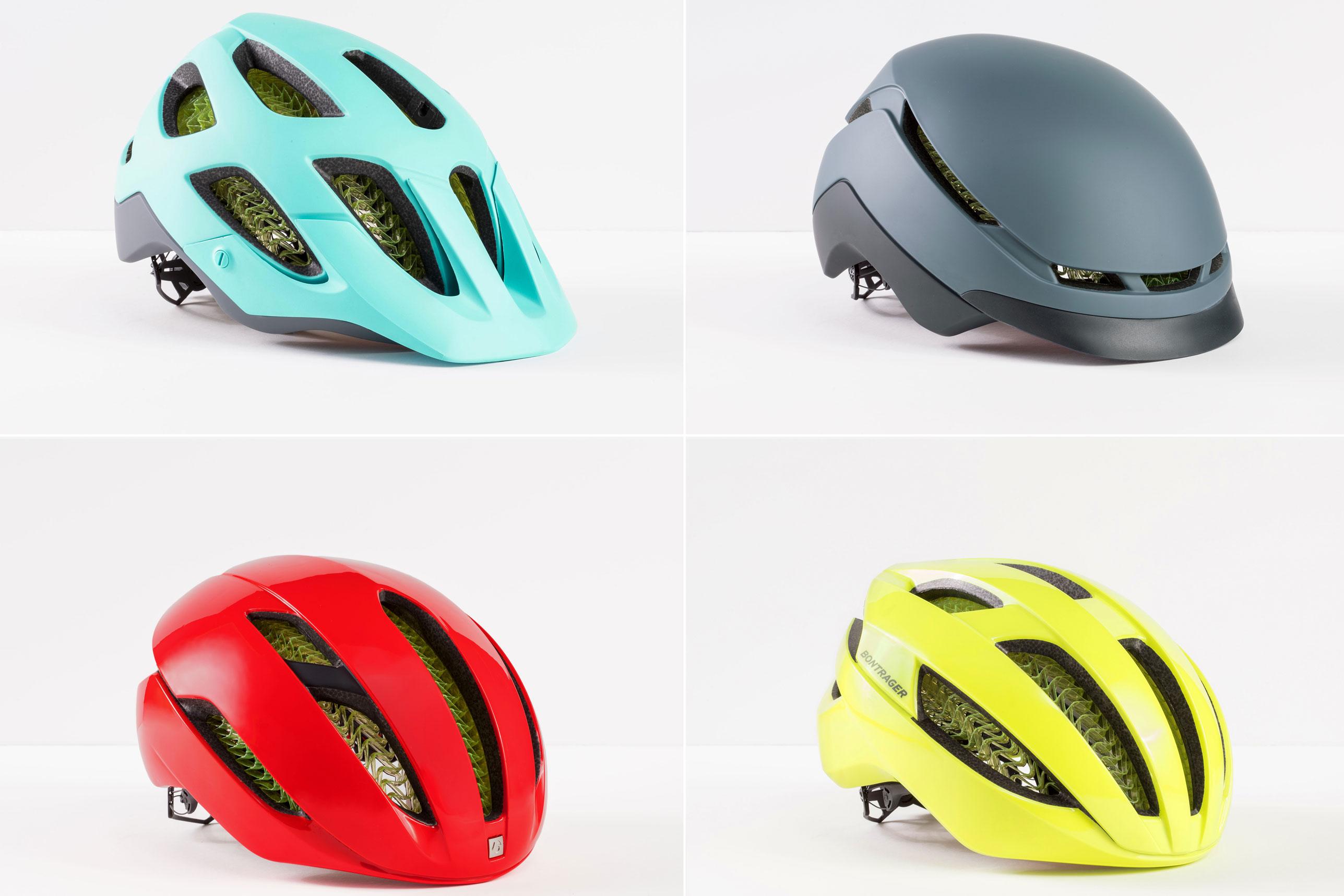 Four Bontrager WaveCel helmets