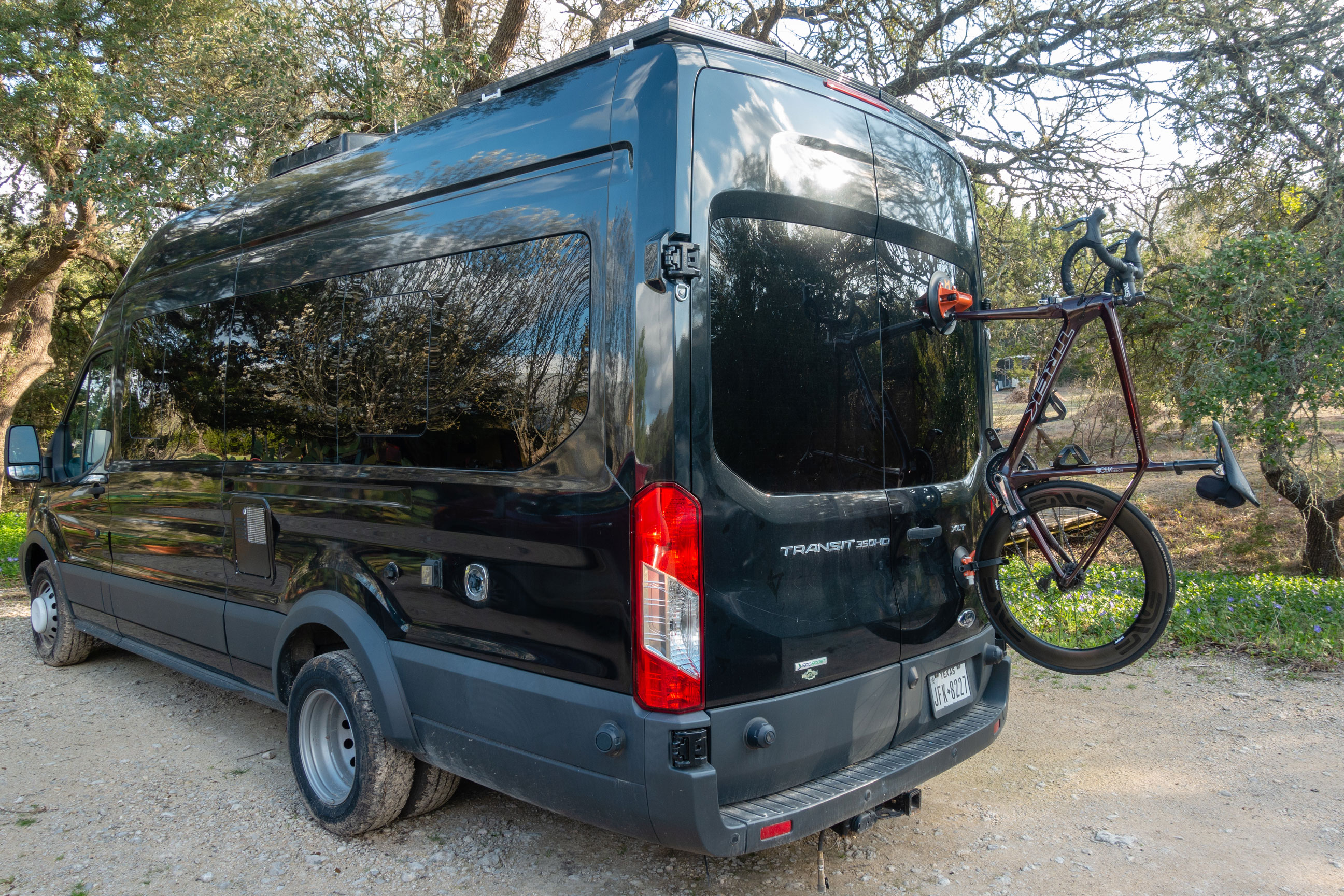 Kupper Mounts Bike Carrier on Sprinter van rear door