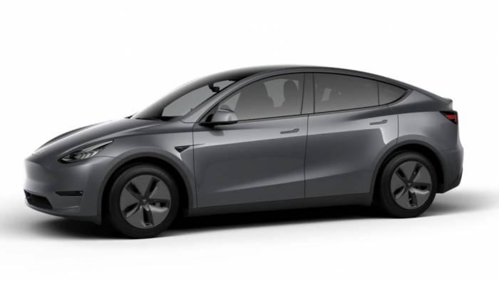Gray Tesla Model Y