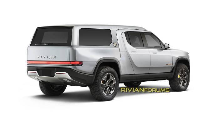 RivianForums.com artist rendering of Rivian modular truck bed