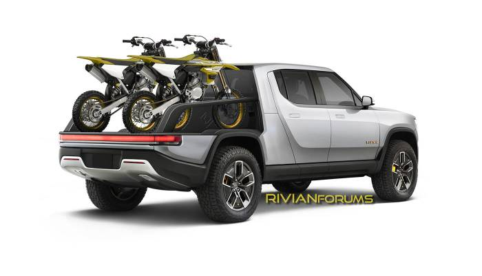 RivianForums.com artist rendering of Rivian modular truck bed