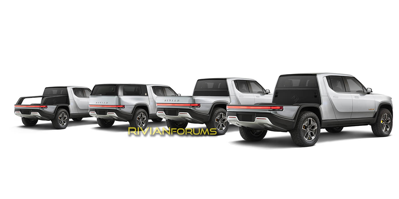 Rivian Patent Reveals Modular Truck Bed, Forums Illustrate Concept
