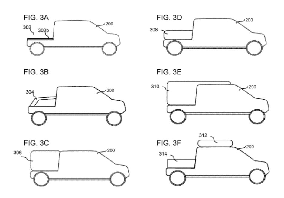 Rivian Patent Reveals Modular Truck Bed, Forums Illustrate