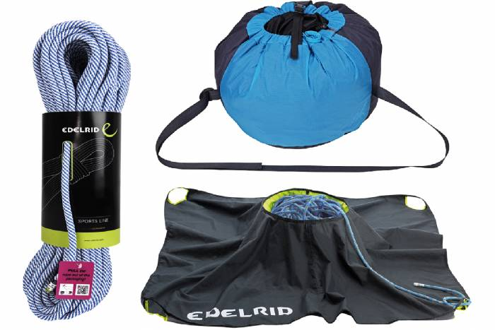 Edelrid Ceuze Non-Dry Rope and Caddy Light Rope Bag Package