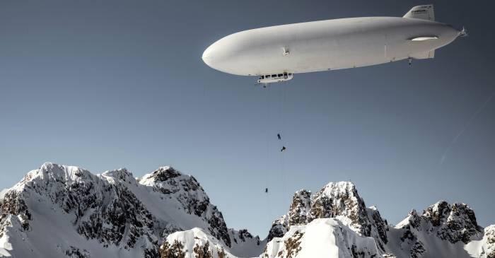 Watch: 'First Ever Zeppelin Ski Drop'