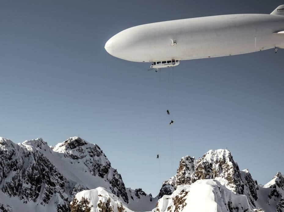 first zeppelin ski drop