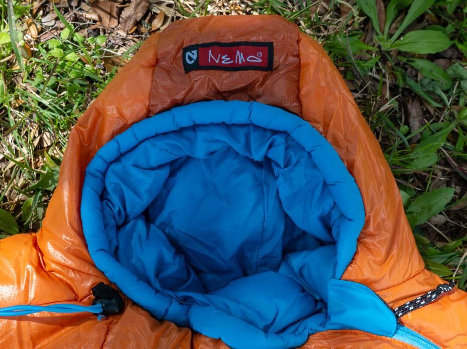 Nemo Kyan 35 synthetic mummy sleeping bag hood