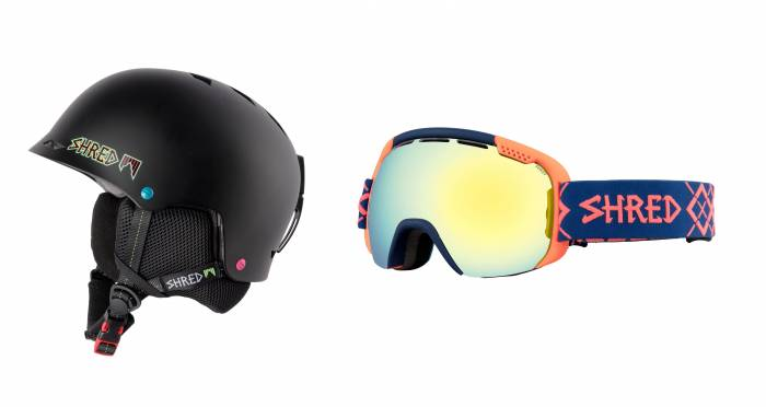 SHRED helmet and goggles sale