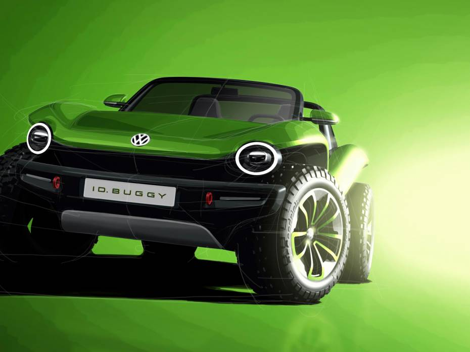 VW ID Dune Buggy green