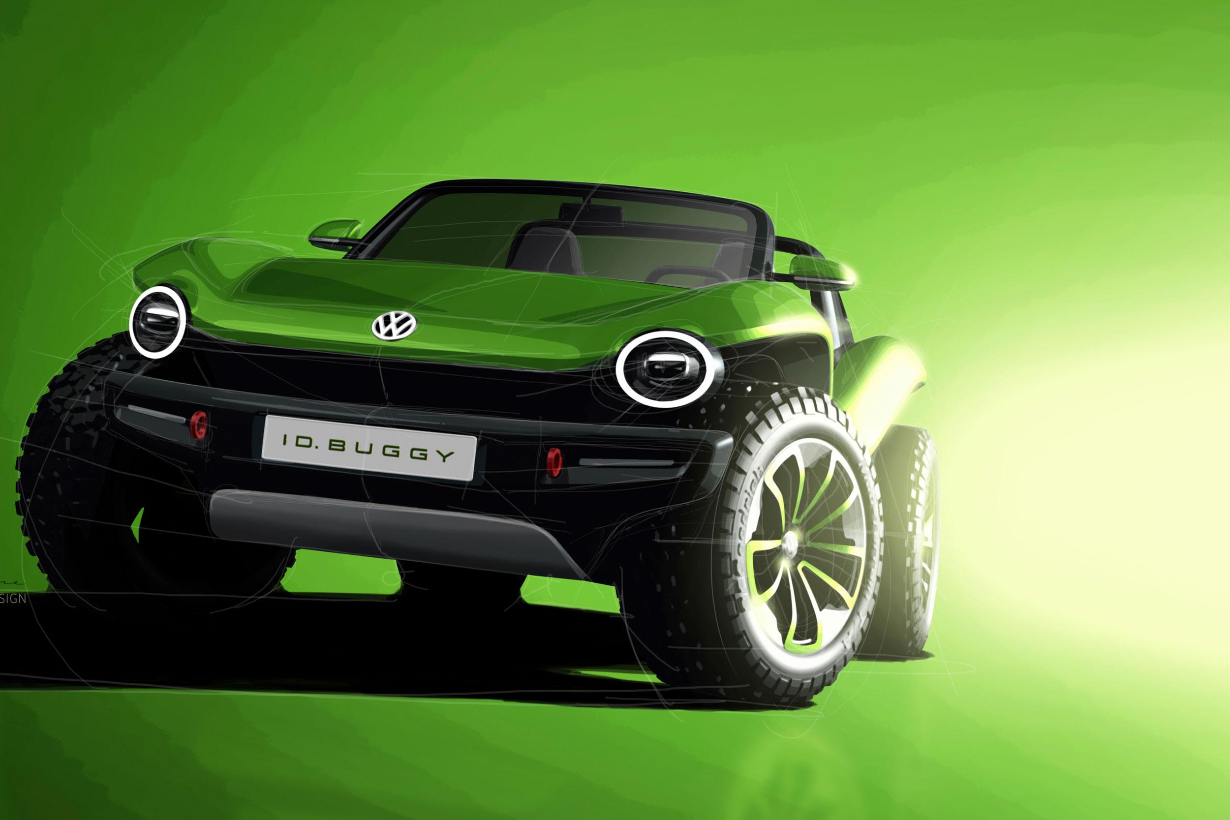 VW ID Dune Buggy green