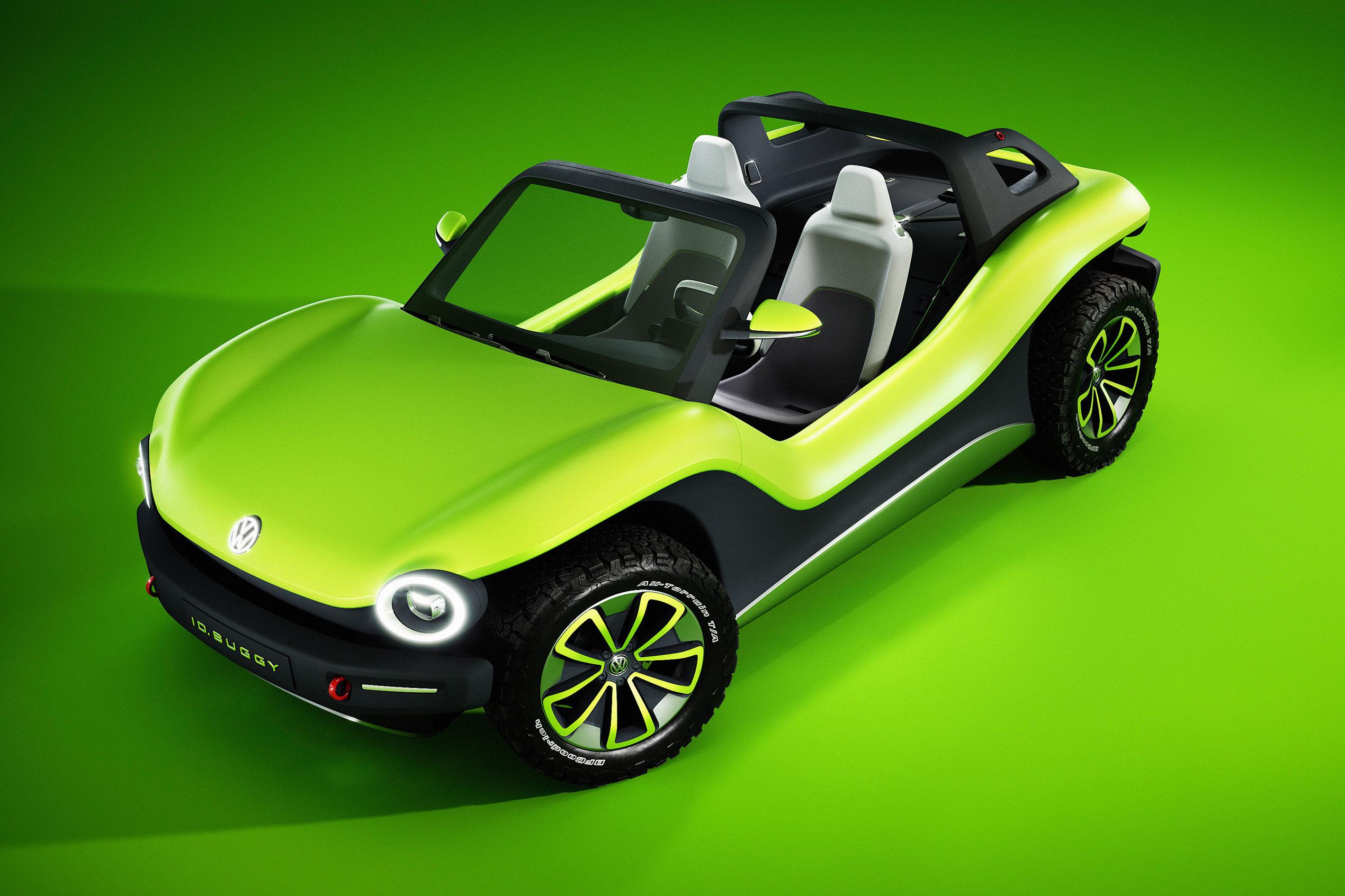 VW Dune Buggy top green