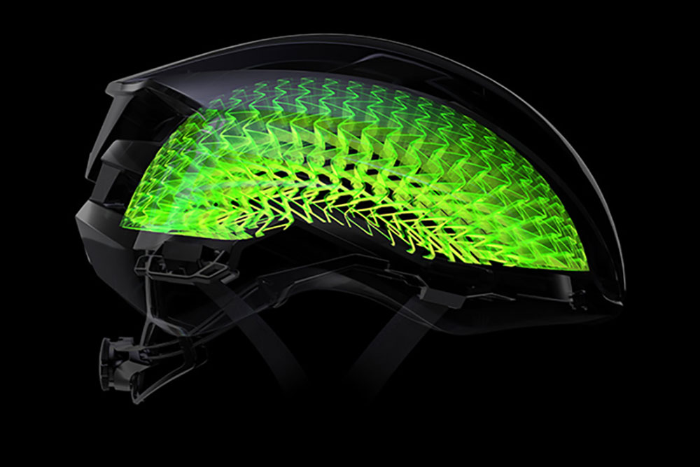 WaveCel inside a Bontrager bike helmet