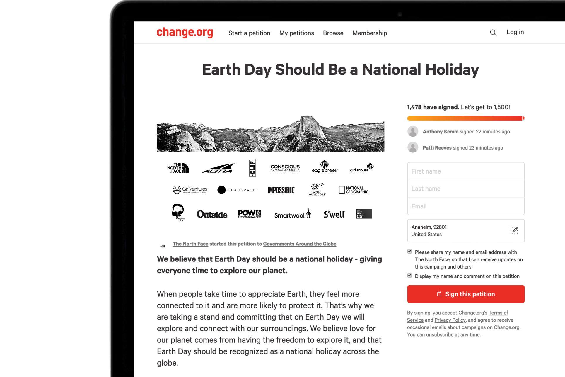 The North Face Campaigns to Make Earth Day a National Holiday