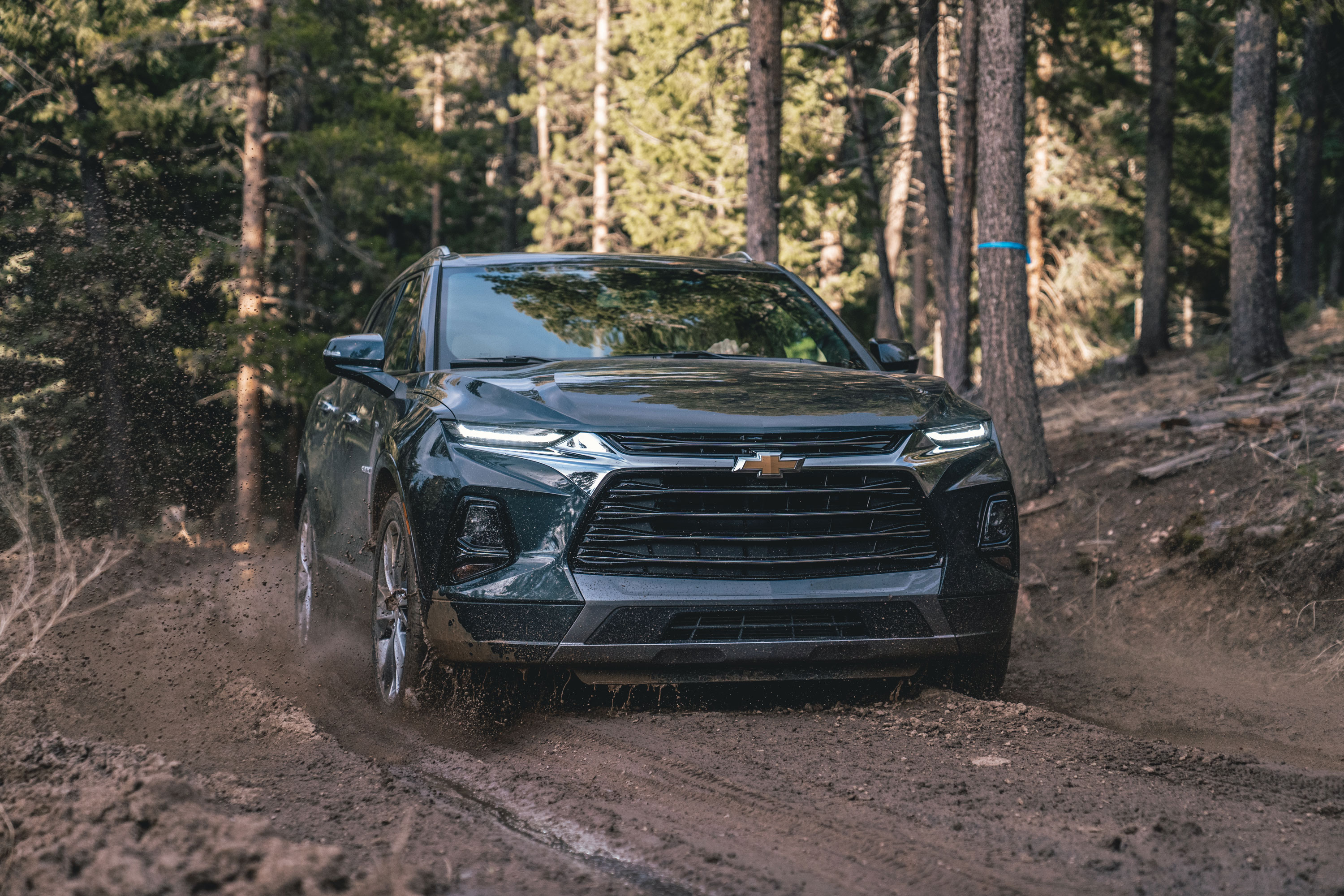 2019 Chevy Blazer parked at campsite