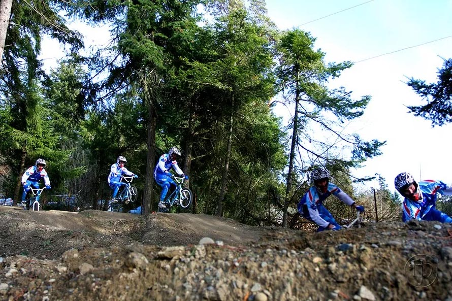 Bike race at North Saanich Freeride Park