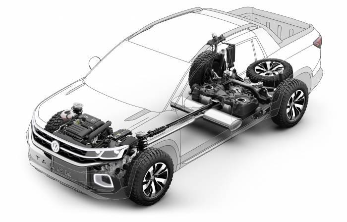 Volkswagen Tarok pickup truck concept schematic