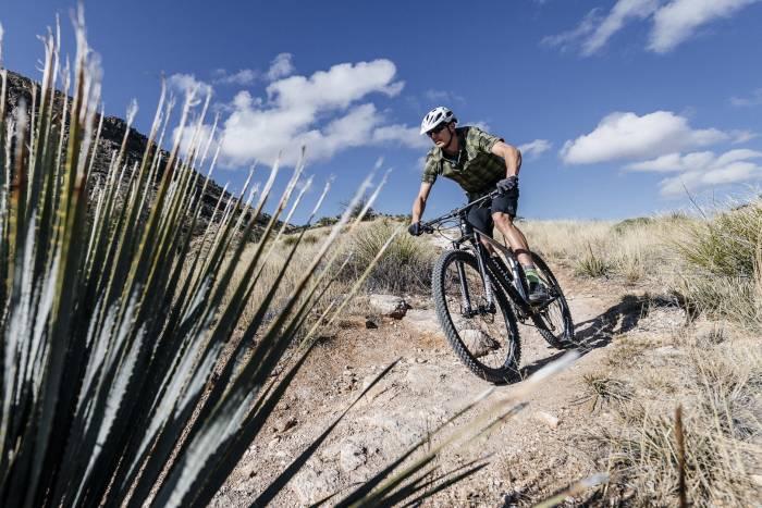 Rider on Viathon M.1 mountain bike
