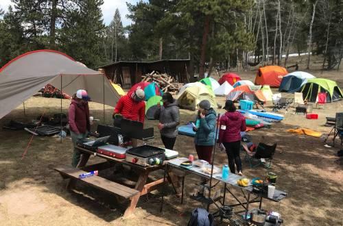 2019 Camp Gear Test campsite