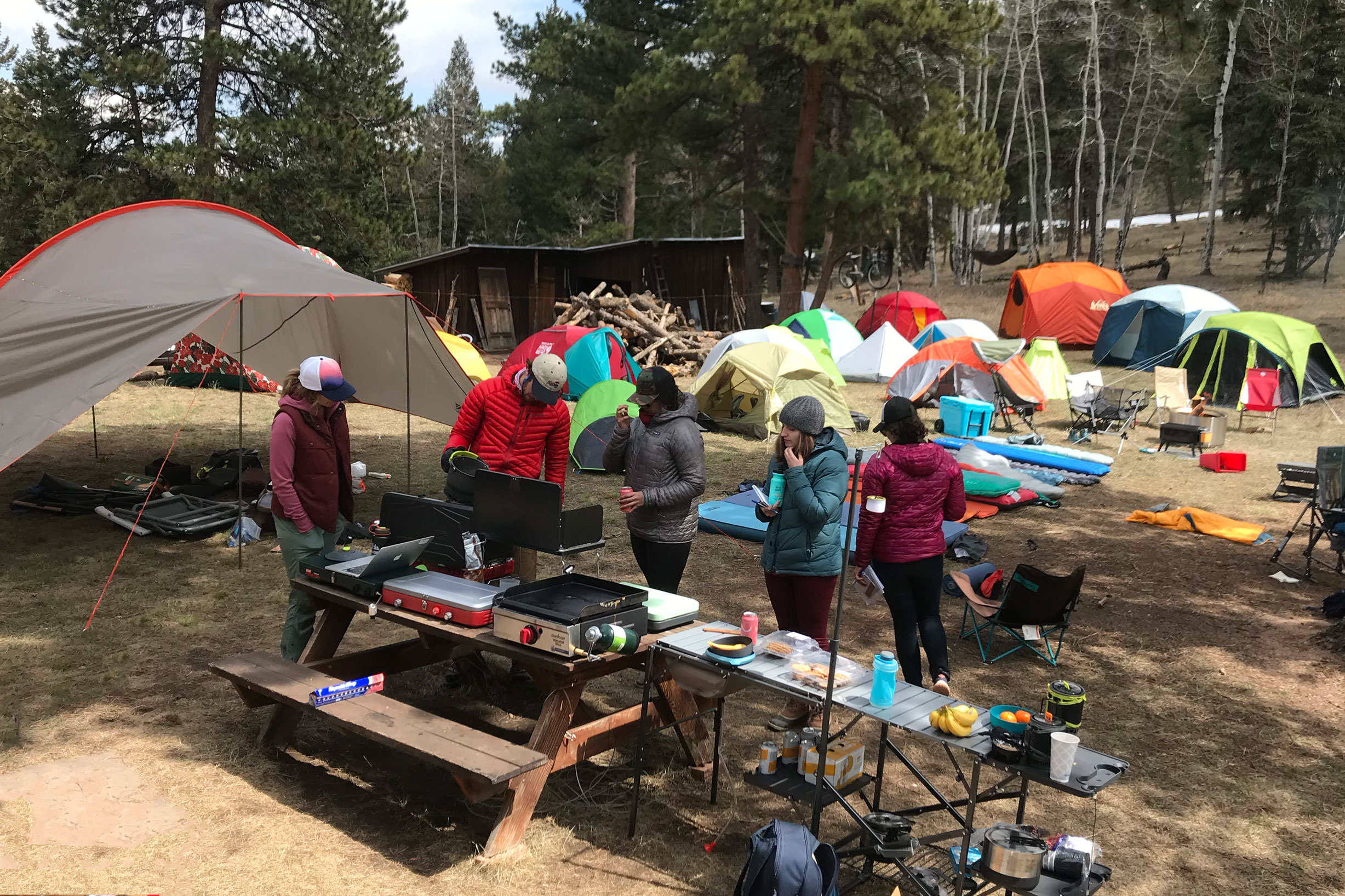 2019 Camp Gear Test campsite