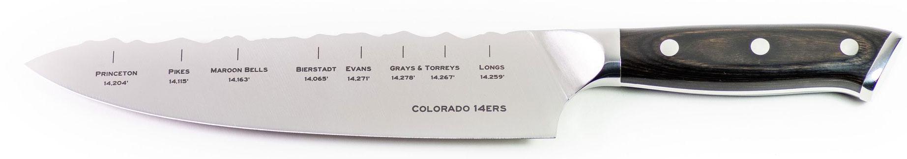 Peak Knife Company Colorado 14ers Chef's Knife