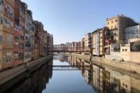 Canal in Girona, Spain