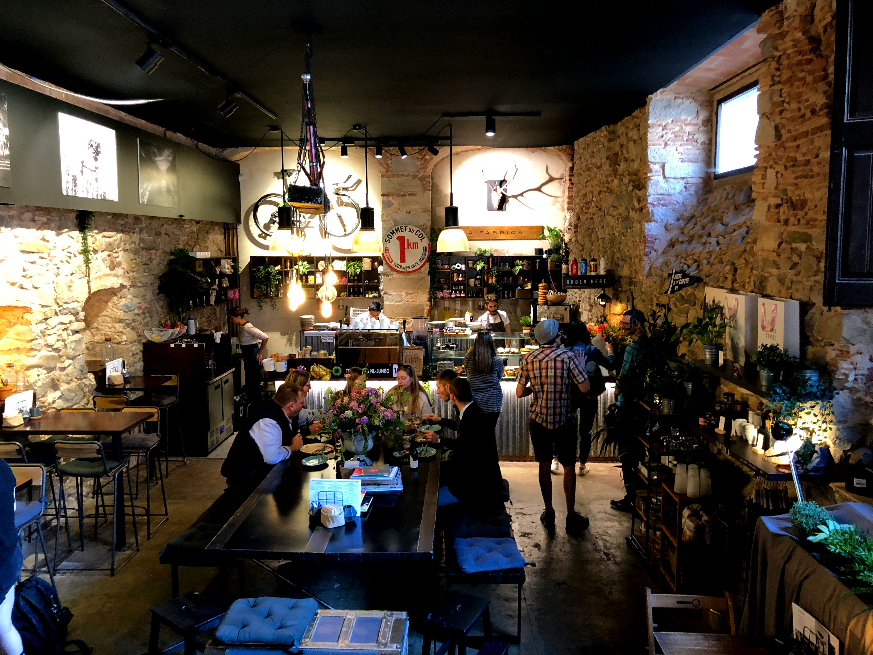 Girona, Spain bicycle coffee house