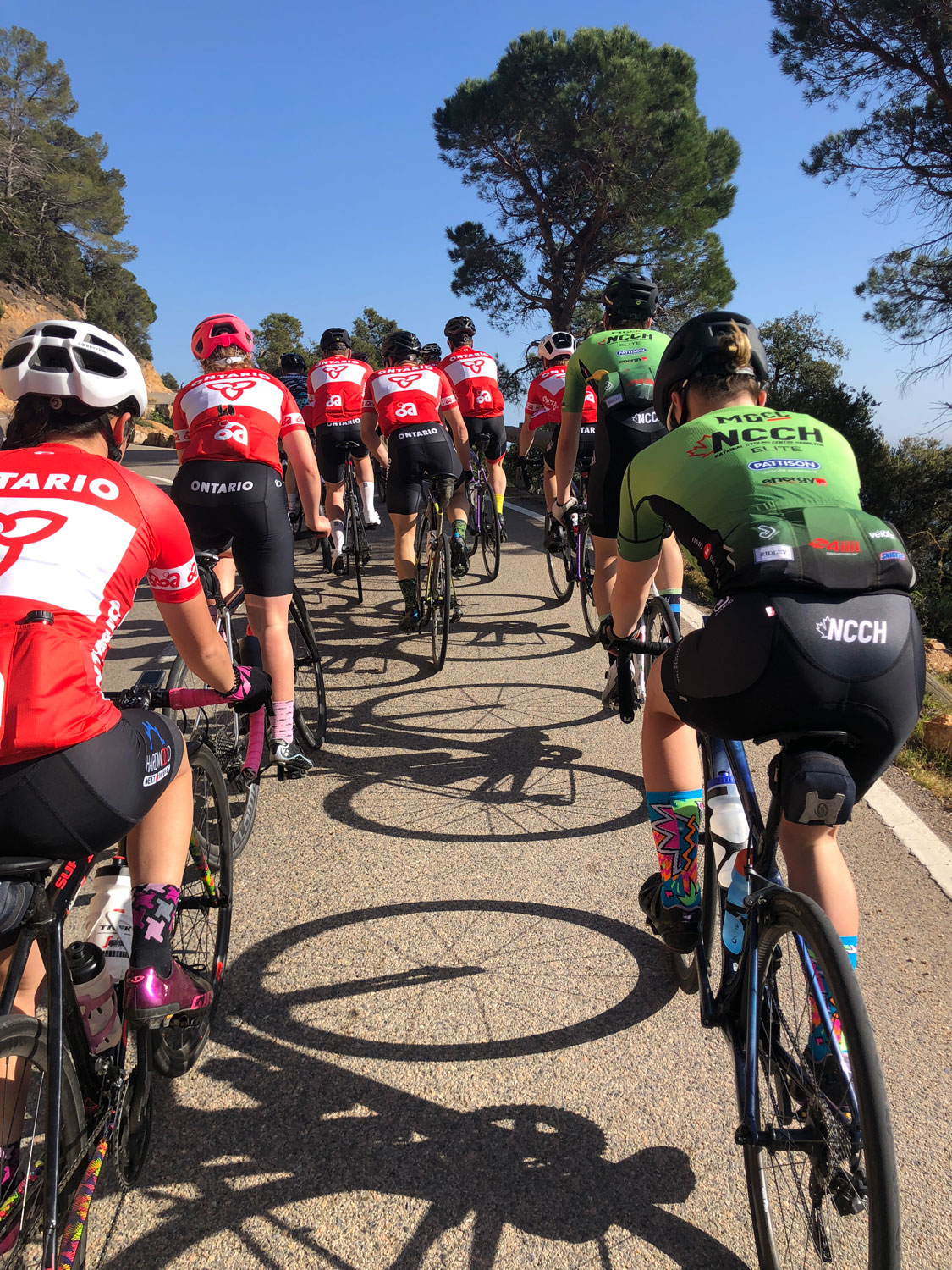 Peloton road ride in Girona, Spain