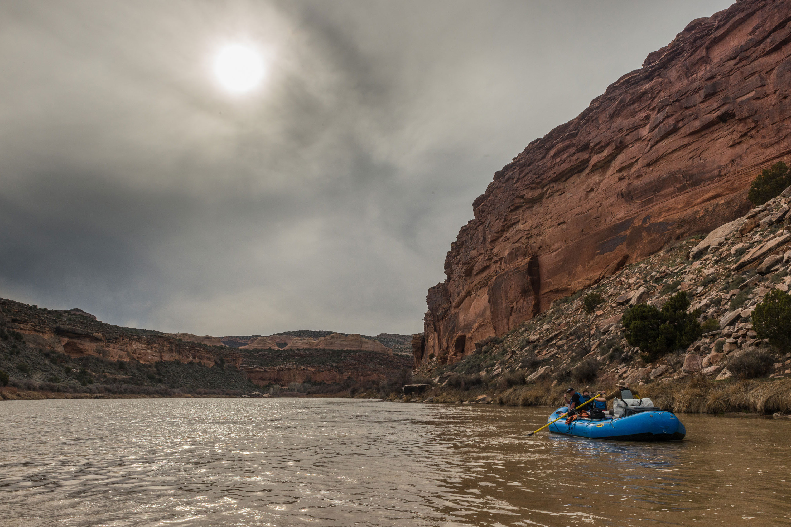 Ruby Horsethief Canyon river raft