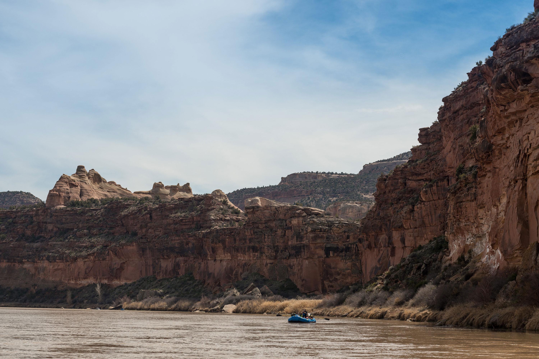 Ruby Horsethief Canyon river raft