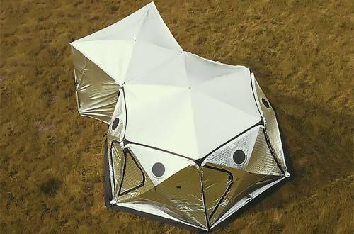 Shiftpod XL Burning Man glamping tent
