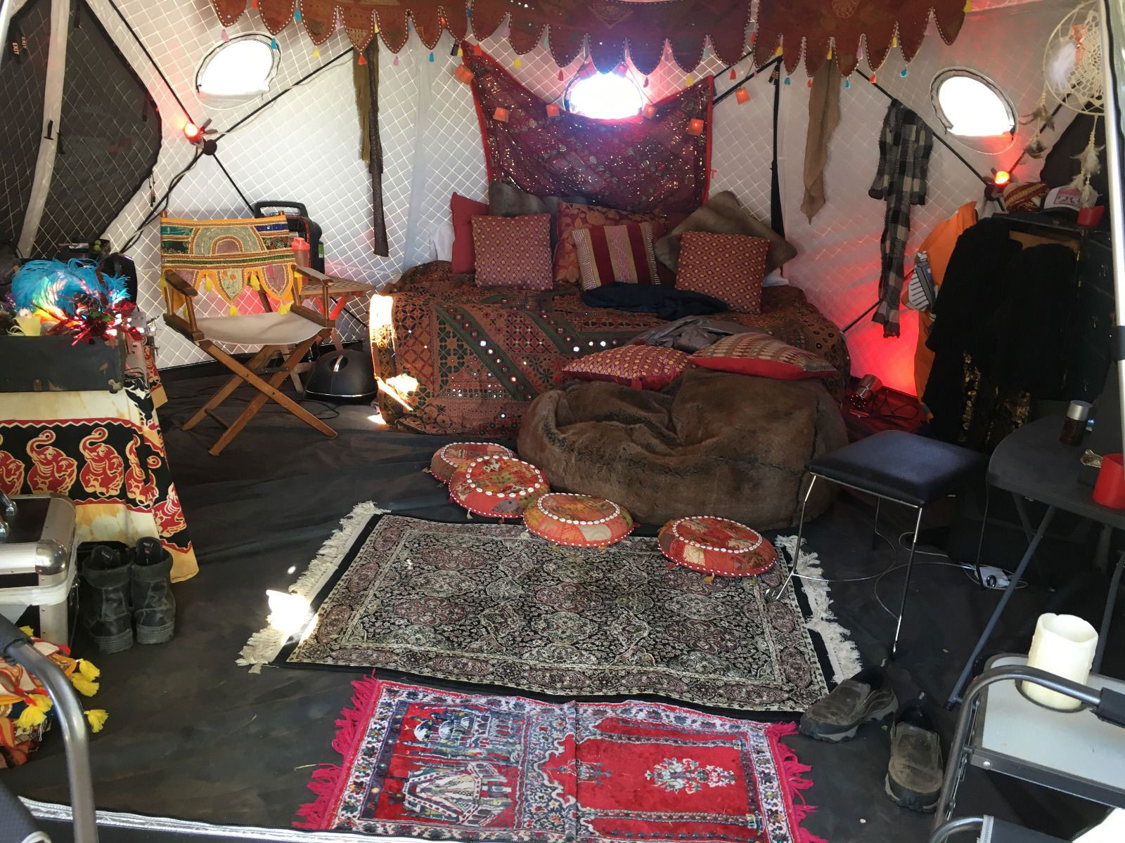 Shiftpod XL Burning Man glamping tent