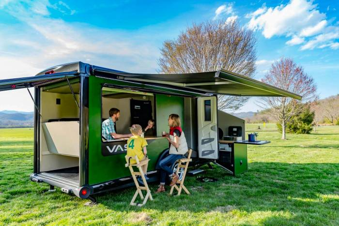 Family using SylvanSport VAST camper