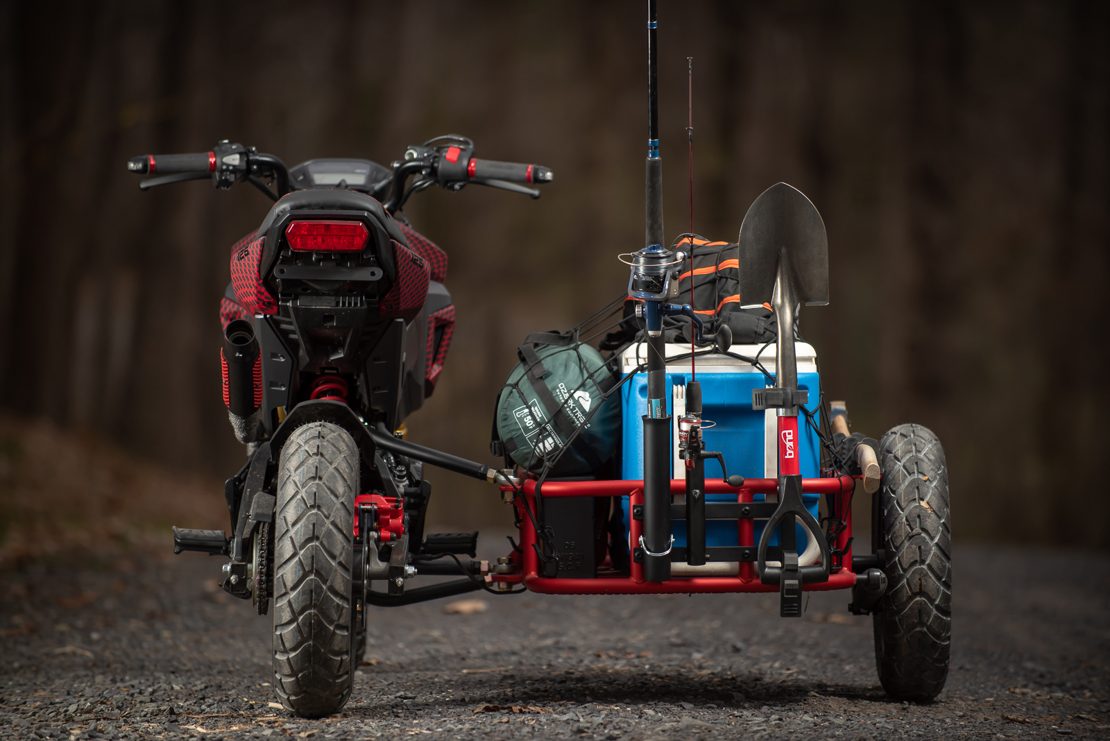 Grom Utility Sidecar motorcycle camping