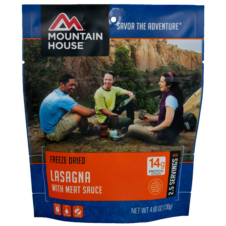 Mountain House Dehyrated Freeze Dried Meal Lasagna with Meat Sauce
