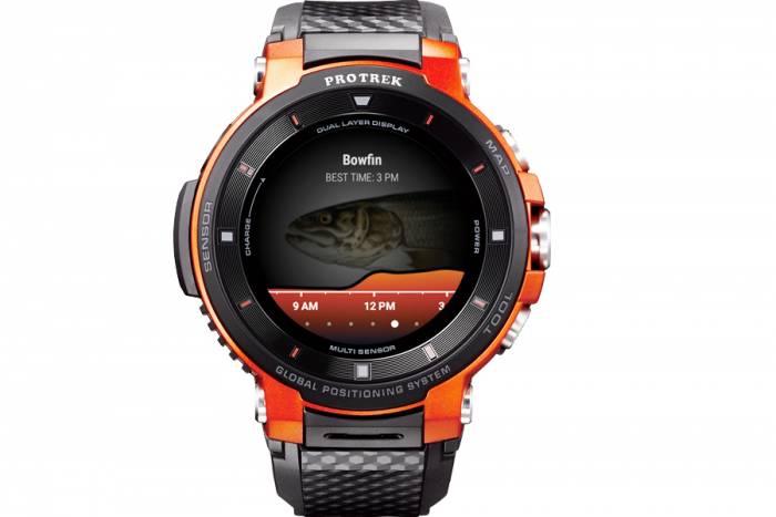 Casio Fishbrain smartwatch for fishing