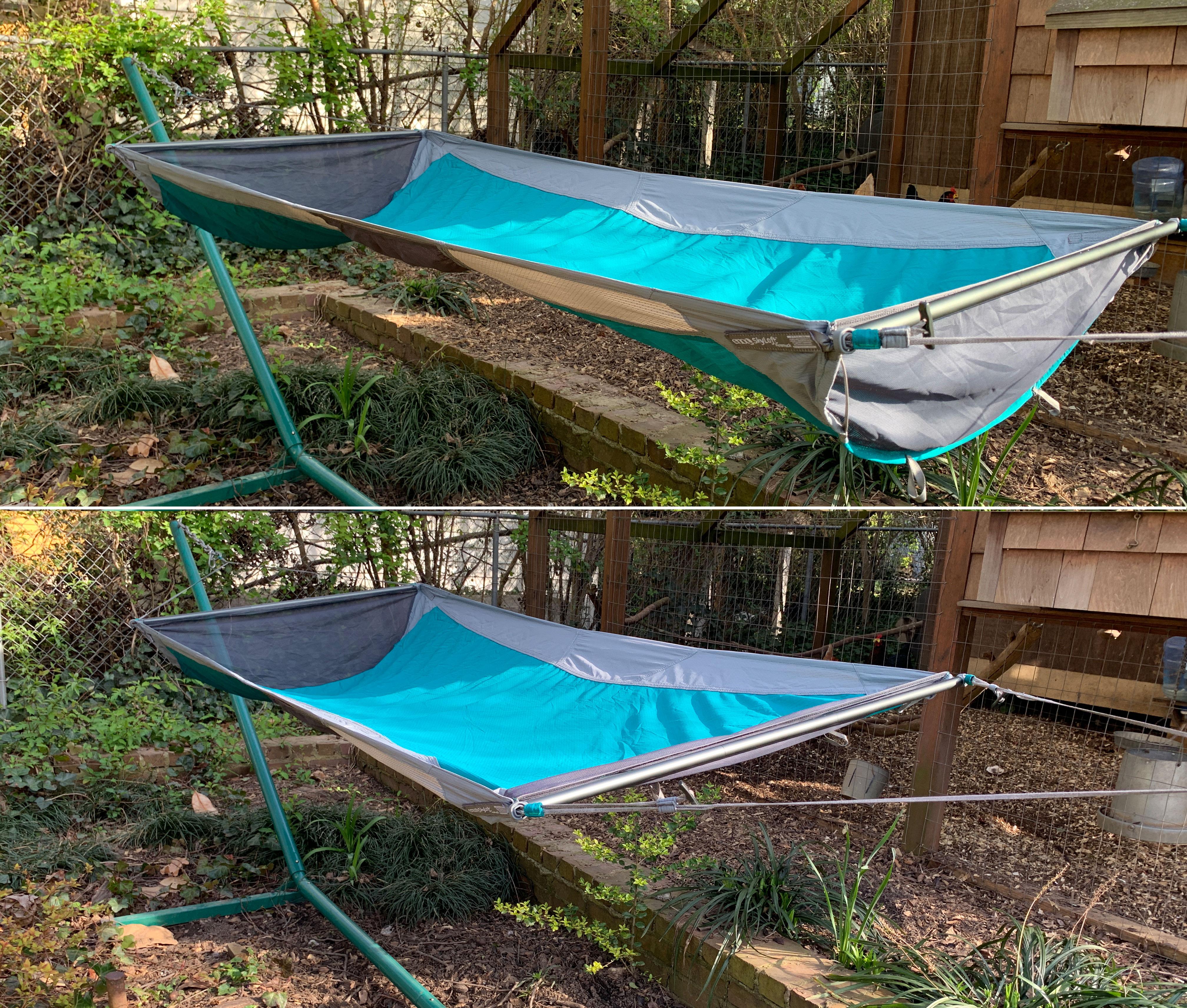 ENO SkyLoft hammock modes