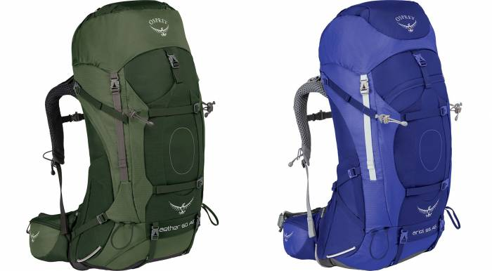 Osprey Packs Aether & Ariel AG Backpacking Packs