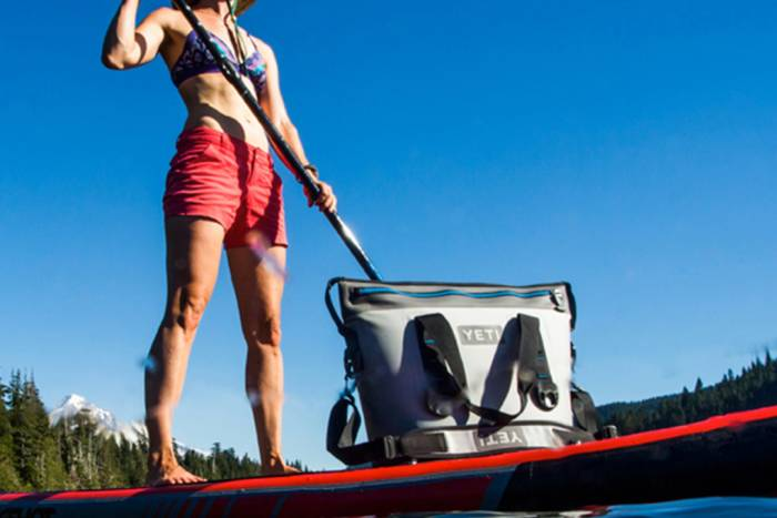SUP with YETI Hopper Two 30 Soft Cooler