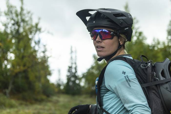 Sweet Protection Arbitrator helmet, trail riding