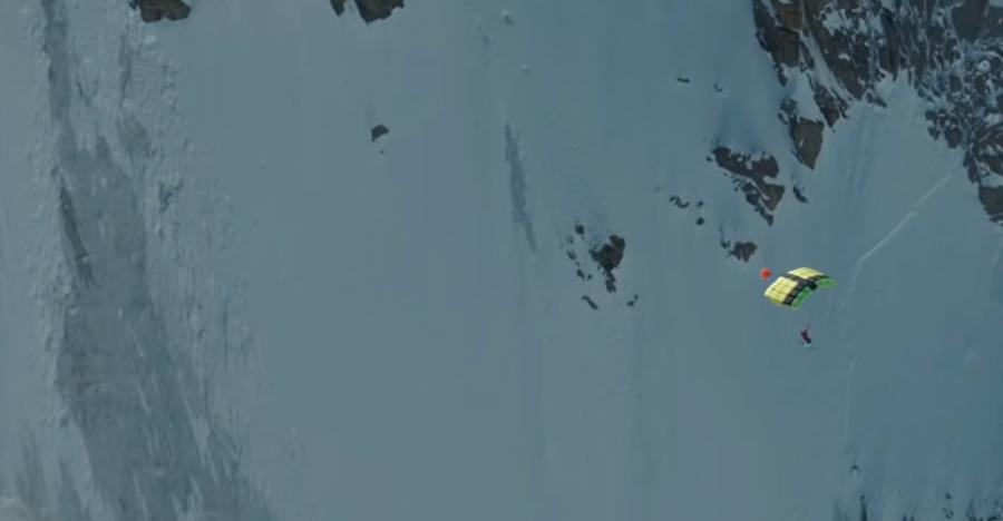 Watch: 1st Ski-BASE Jump Sets World Record From Mont Blanc Summit | GearJunkie