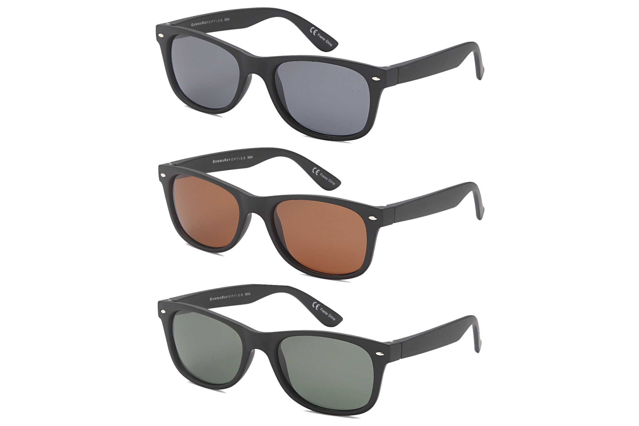 Gamma Ray Polarized Sunglasses – 3 Pairs