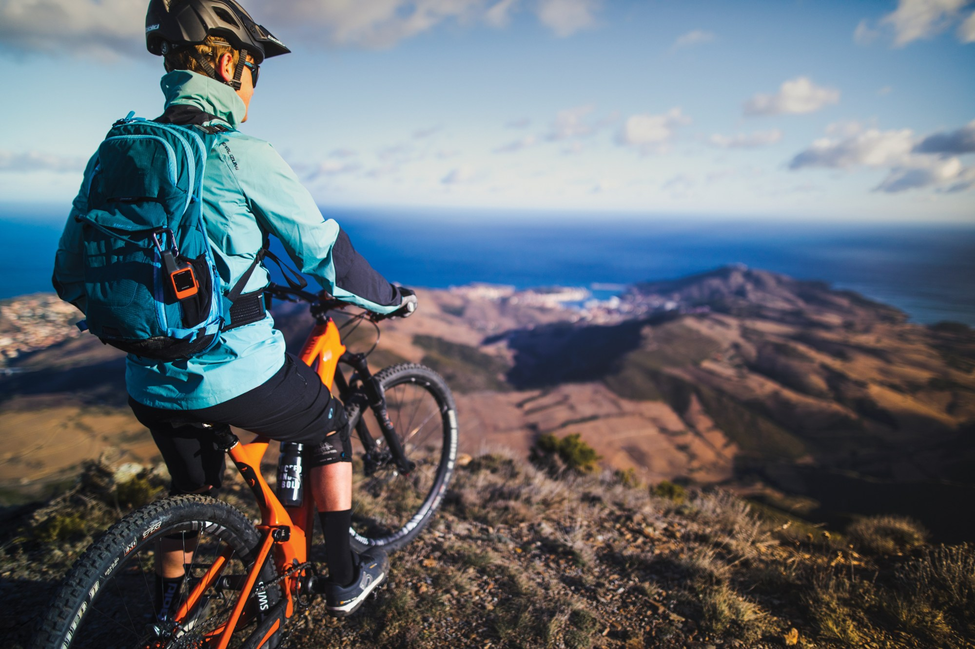 Mountain Biker with Garmin