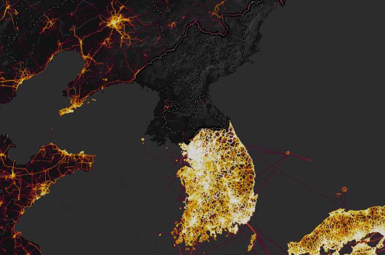 Strava Heatmap North Korea