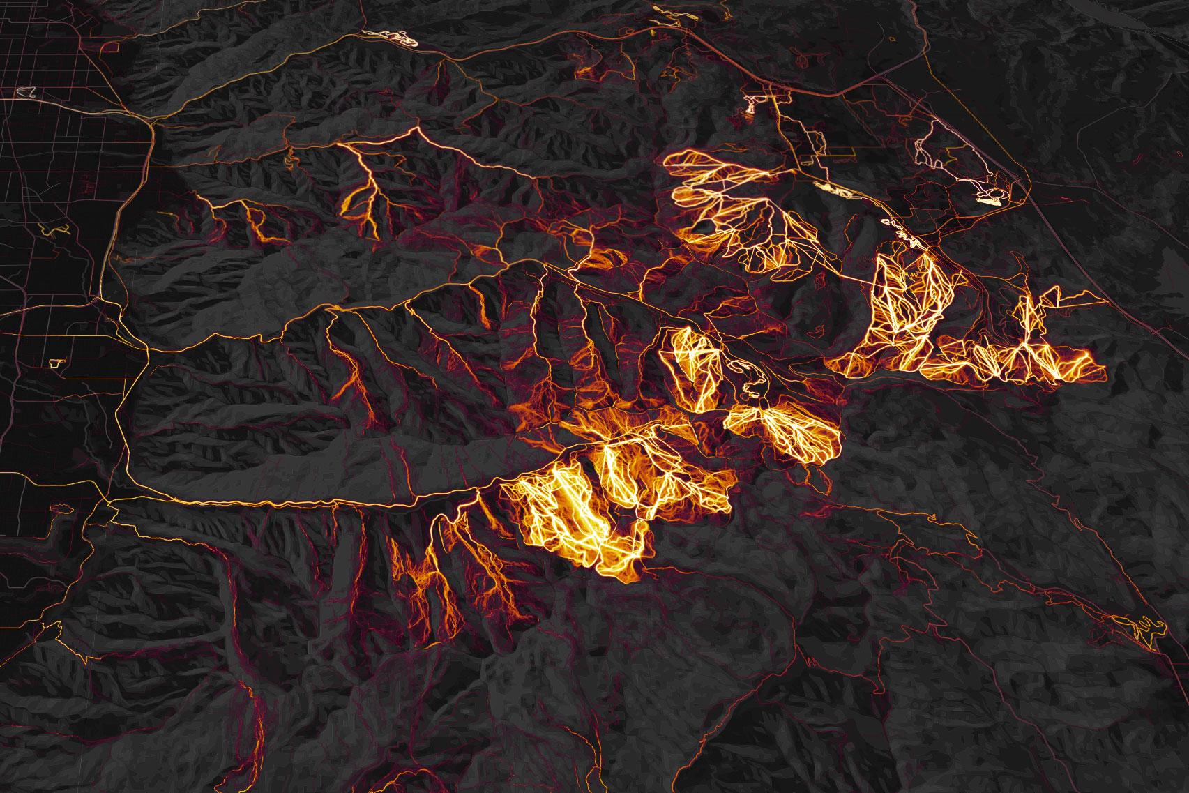 Strava Heatmap Salt Lake City skiing