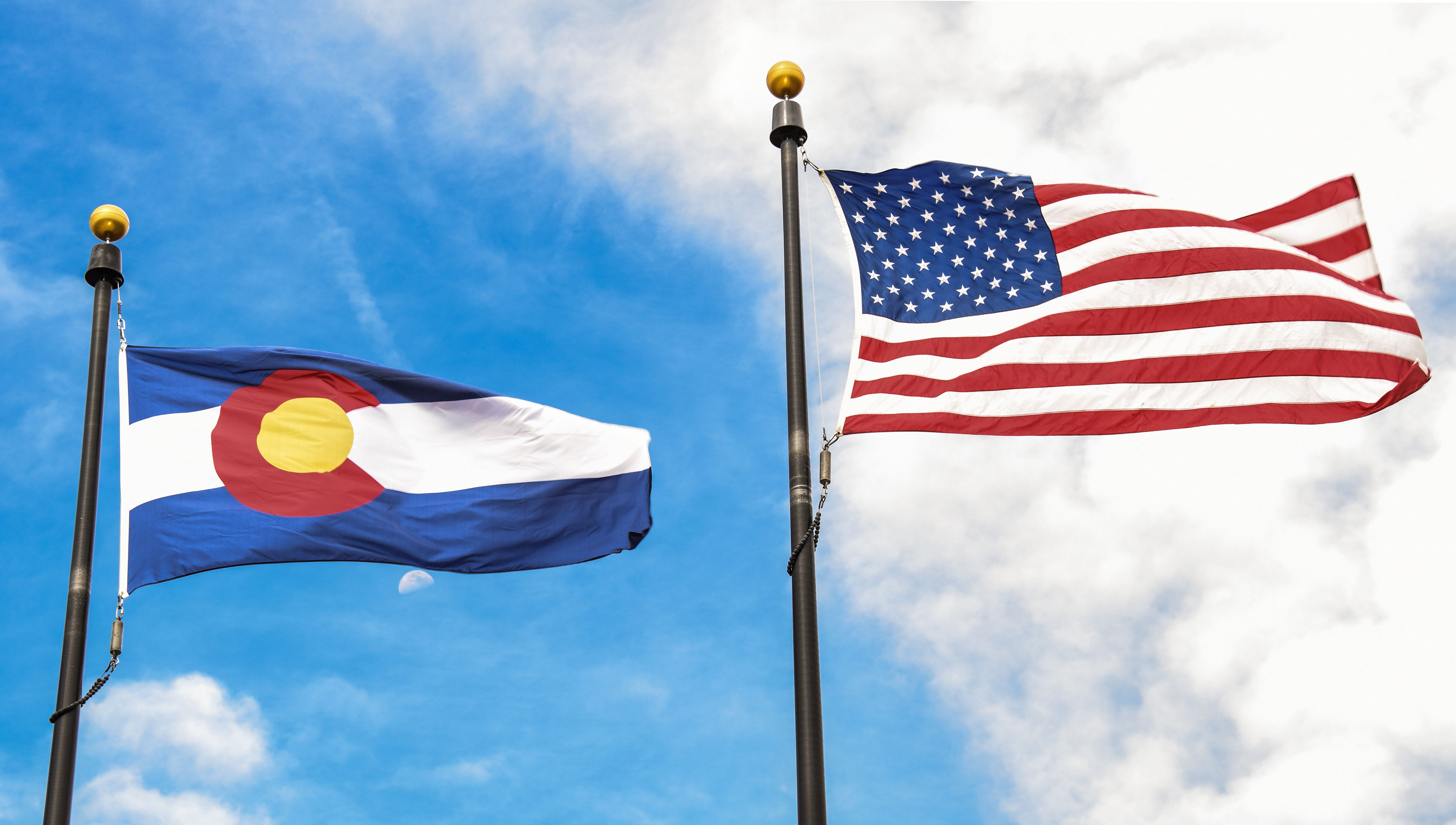 Colorado US flags