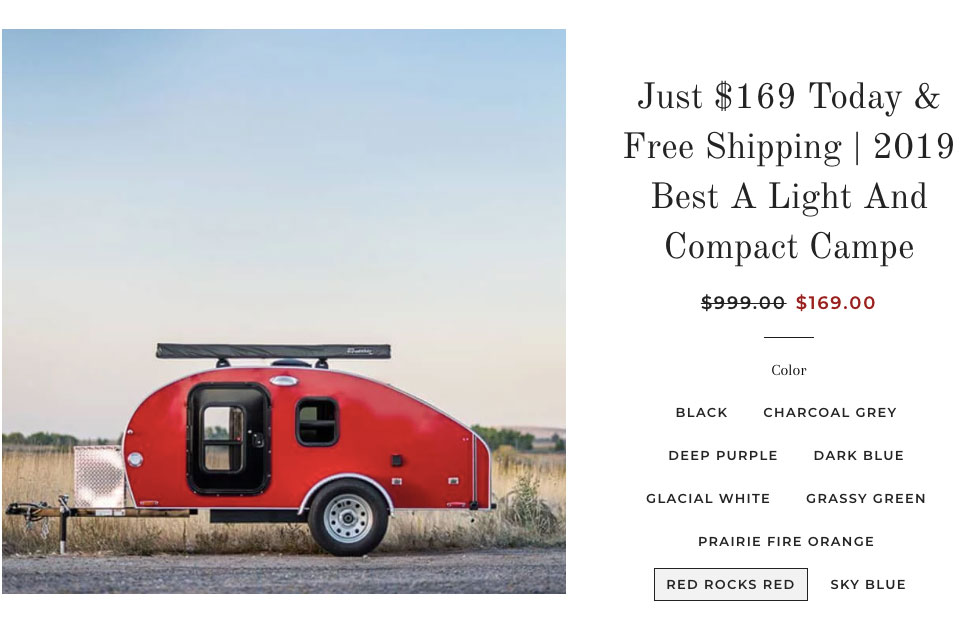 teardrop trailer scam